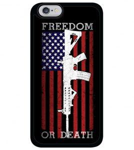 American Flag AR-15 - Freedom or Death - iPhone / Galaxy